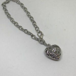 Swarovski Elements Jewelry - Silver Crystal Heart Bracelet [JW-7]